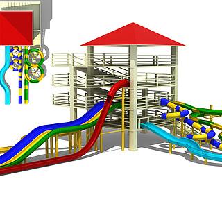 儿童乐园水上乐园3d模型