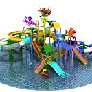 大型水上乐园儿童乐园模型