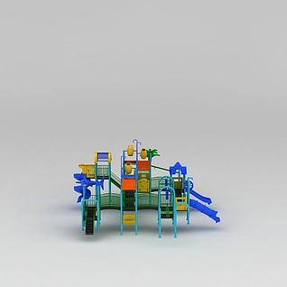 水上乐园儿童乐园游乐设备3d模型