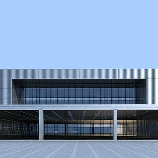 现代厂房工业楼建筑3d模型
