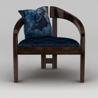中式实木椅子3d模型3d模型