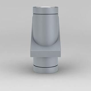 现代灰色金属射灯3d模型