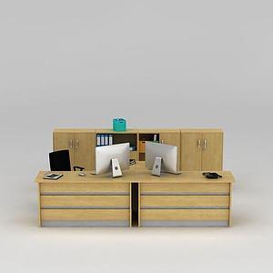 3d?#30340;?#31616;约<font class='myIsRed'>办公桌</font>模型