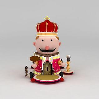 欧式国王人偶摆件3d模型