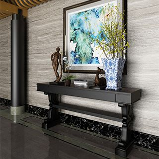 中式风格玄关背景墙3d模型