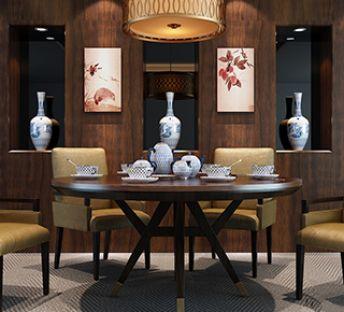 现代精品实木餐桌椅组合