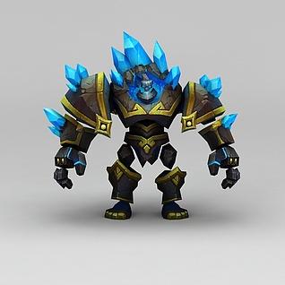召唤师联盟晶石巨兽游戏角色3d模型