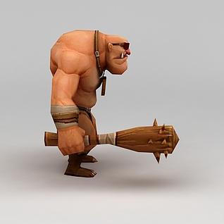 游戏角色大块头男人3d模型