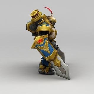 召唤师联盟机械骑士3d模型