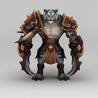 游戏怪兽老虎怪兽3d模型