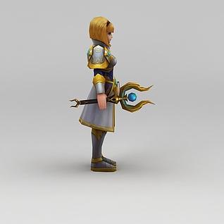 召唤师联盟帝国之花游戏人物3d模型