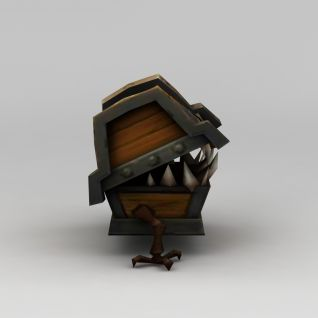 网游角色箱子怪兽3d模型
