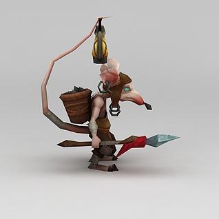 游戏角色怪兽3d模型