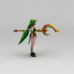 召唤师联盟星辰女士游戏角色3d模型