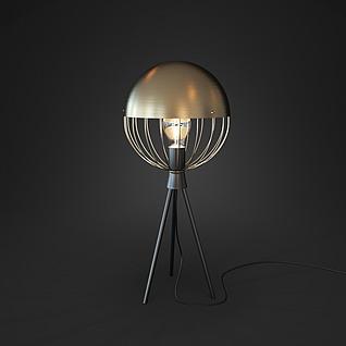现代时尚创意支架台灯3d模型