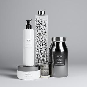 现代浴室用品模型