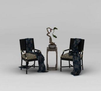 中式精品椅子边几组合