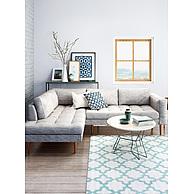 时尚休闲灰色布艺沙发茶几组合3D模型3d模型