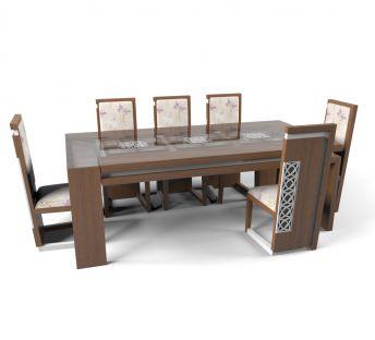 现代简约实木餐桌椅组合