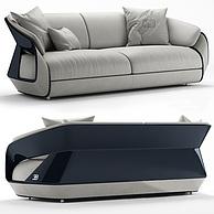 现代时尚灰色休闲双人沙发3D模型3d模型
