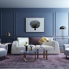 现代简约风格沙发茶几组合3D模型3d模型