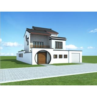 时尚白色二层小别墅3d模型