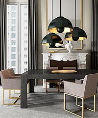 欧式时尚桌椅家具组合模型3d模型