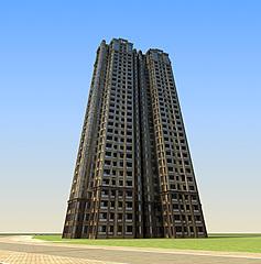 现代高档精品住宅楼模型3d模型
