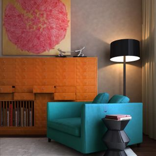 现代时尚休闲沙发边柜组合3d模型