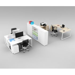 现代办公室经典桌椅家具组合3d模型3d模型