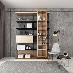 时尚精品客厅展示柜3d模型3d模型图片