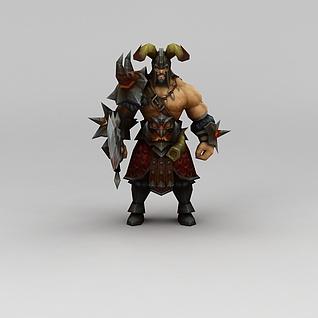 召唤师联盟北地之王游戏角色3d模型