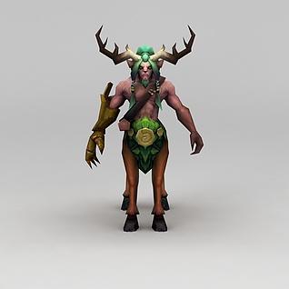 网游角色怪兽鹿兽3d模型