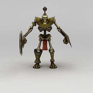 召唤师联盟骷髅怪兽3d模型