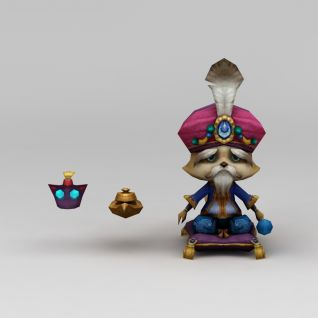召唤师联盟老浣熊游戏角色3d模型