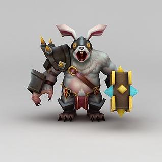 召唤师联盟兔子怪兽3d模型