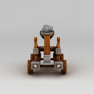 召唤师联盟投石车3d模型