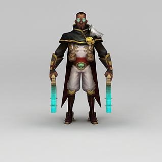 召唤师联盟游戏人物男人3d模型