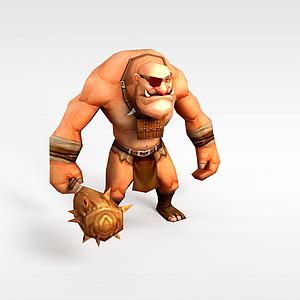 石頭人模型3d模型