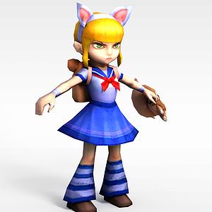 召喚師聯盟小女孩烈焰魔女模型3d模型