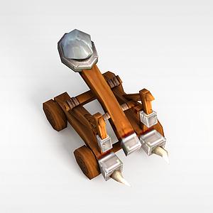 召唤师联盟投石车模型3d模型