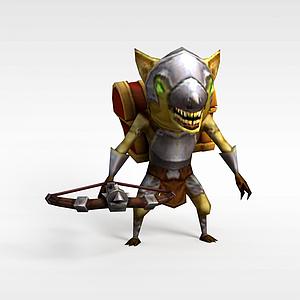 召喚師聯盟老鼠獸游戲角色模型3d模型