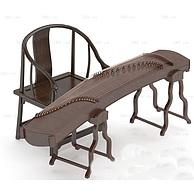 中式古典乐器古筝3D模型3d模型