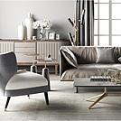 精品时尚客厅沙发茶几组合模型