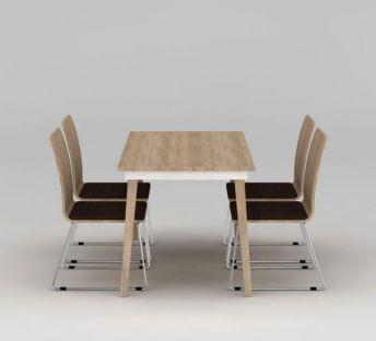 现代简约实木餐桌椅
