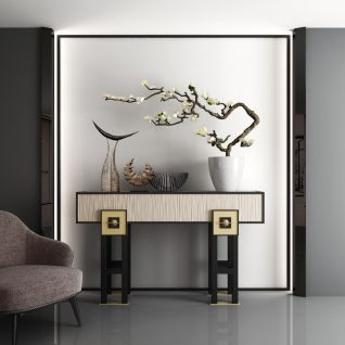 高档时尚椅子边柜组合3d模型