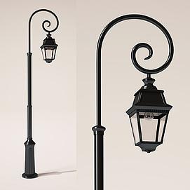 欧式室外复古路灯模型