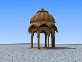 印度风格景观亭3d模型