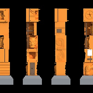 三星堆景观柱模型