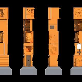 三星堆景观柱3d模型
